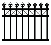 Woodland tubular fencing design