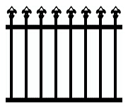 Speartop Tubular Design Fencing